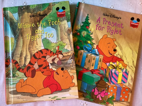 Winnie the Pooh and Tigger Too (1999 Edition) and A Present for Piglet (1998 First Edition) - Classic Walt Disney World of Reading Books