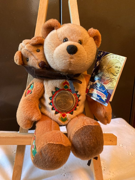 Limited Treasures Coin Bear -  Sacagawea and Pomp