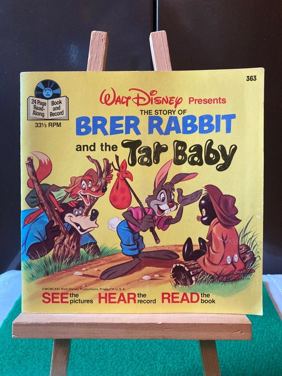 Walt Disney - Brer Rabbit And The Tar Baby - See Hear Read Record- Vintage 1977 FREE SHIPPING