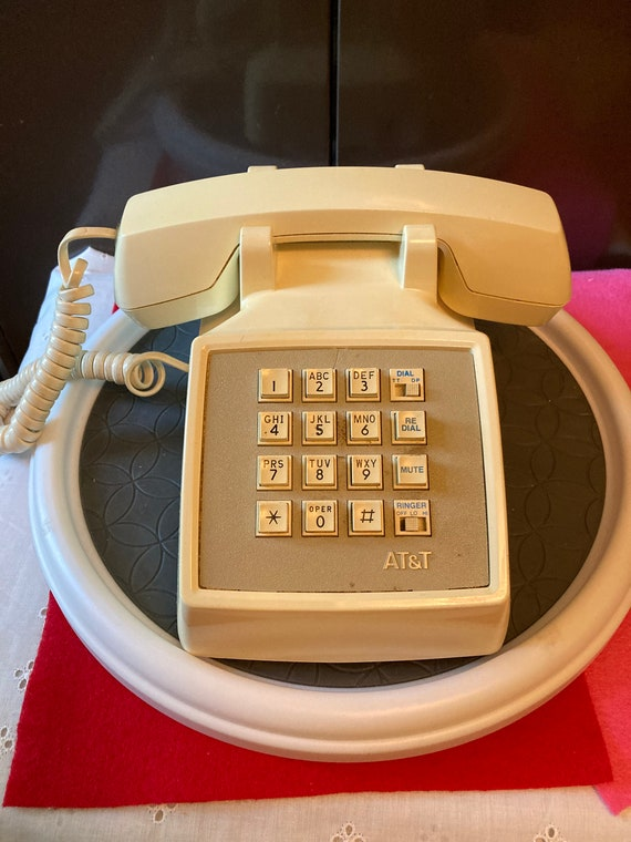 Vintage AT&T Push Button Telephone - Traditional Push Button Desk Phone