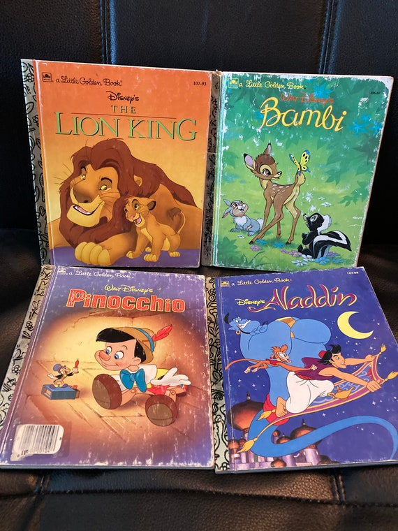 4 Classic Tales - Disney Little Golden Books - Vintage 1990's