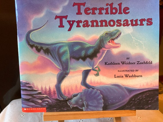Terrible Tyrannosaurs - Dinosaurs Roamed the Earth Ages Ago - Vintage 2001 Let's Read and Find Out Science Book Terrible Tyrannosaurs