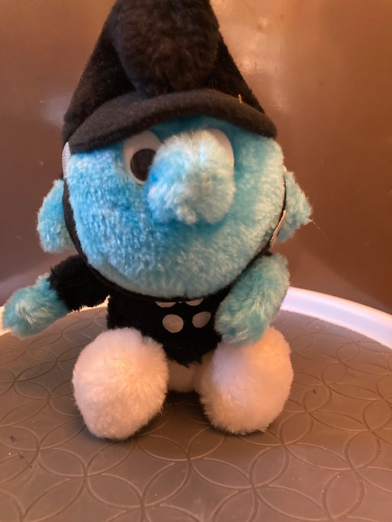 Vintage Smurf Character Collection Policeman Wallace Berrie Peyo 1983 - Vintage Smurf   Police Uniform with Hat
