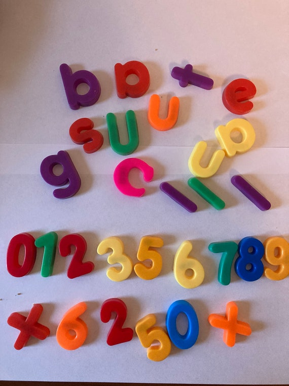 1970's Fisher-Price Magnetic Replacement Lowercase Letters and Numbers