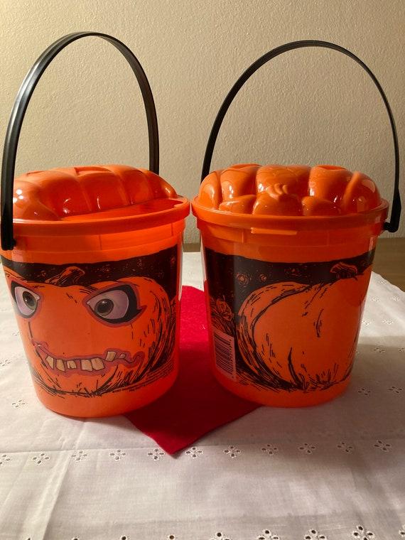 Block Buster 1997 Halloween Buckets
