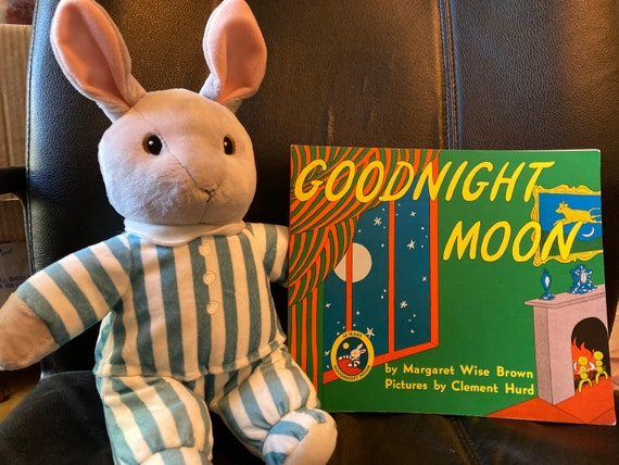 Kohls Cares Bunny Plush From The Childrens Book Good Night Moon Plush Toy Stuffed Animal and Good Night Moon Book (2005)