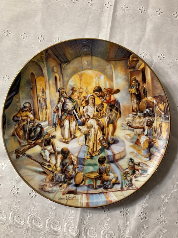 Jacob's Wedding Plate from the The Creation Collection by yiannis Koutsis