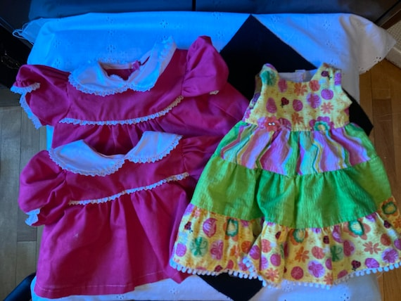 Two Summer Dresses for 14-16 Inch Baby Doll - Doll Clothes