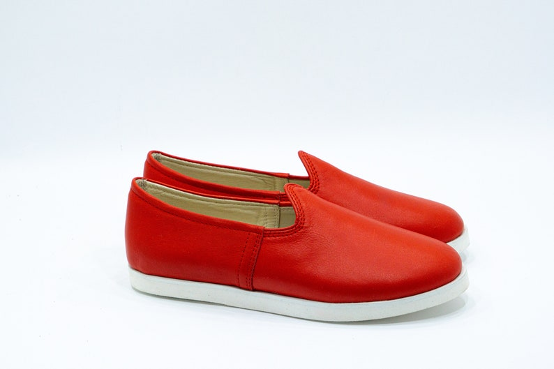 Ultra lightweight /%100 Red Lining Leather /& Handmade Eva Sole Men Turkish Shoes Colorful Slip-On Natural