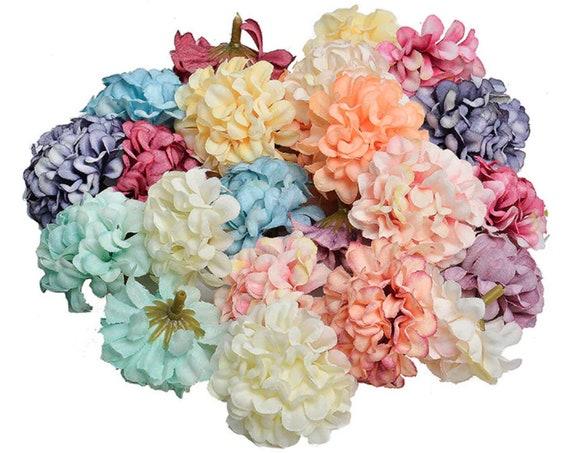 30 pcslot Fabric Artificial Flowers Craft Fake Flower Supplies Wedding Decor-  Scrapbooking