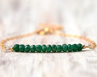 GiftJewelryShop Santa at The Beach Photo Emerald Green Crystal May Birthstone Flower Dangle Charm Bracelets