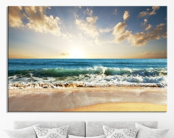 Scallop Shell Coastal Icon Los Angeles Blue 36x54 Giclee Gallery Print, Wall Decor Travel Poster California