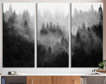 forest fog mist Cross stitch kit Mysterious Fog Halloween
