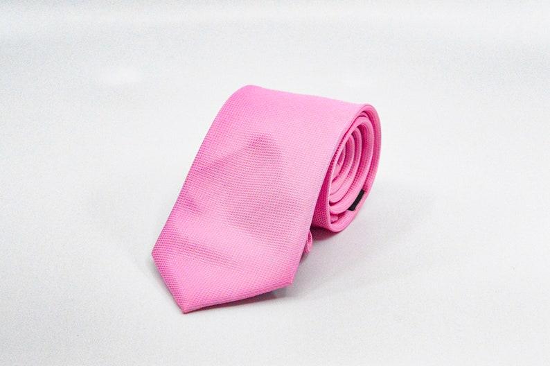 Pink color silk mens neck tie