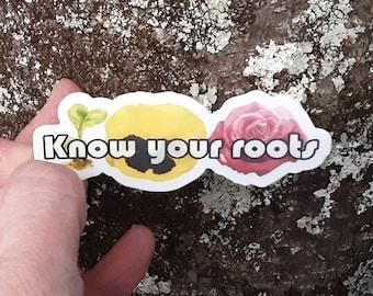 Know your roots Hanson Mmmbop sticker, laptop sticker, 3x1 inch sticker, car decal, planner decoration,