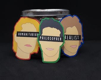 Minimalist Hanson face sticker, Taylor Zac Isaac Hanson Sticker, 90s zine style sticker, Hanson band decal, cute fandom sticker