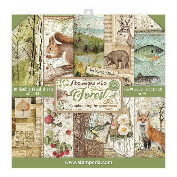 CLOCKWISE Collection PAPER CRAFTING 12x12 Inch Paper Pack STAMPERIA SBBL39 New