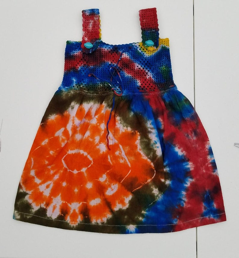 Boho Girls dressestie dye for girlstie dye dressunique gift T4 origami