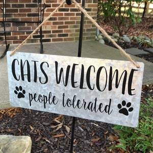WELCOME TO THE Catio personalizedcat decorcat signcat lover decor cat lover signkitty loverpatio sign patio decorpet decor