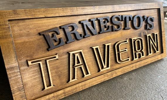 Personalized Tavern Sign Custom Bar Signs Wood Groomsmen Gift Etsy
