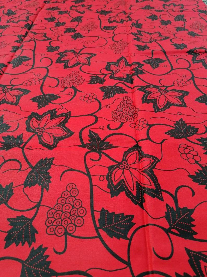 african cotton material red black ankara african fabric by the yard Red african fabric african wax print african print fabric