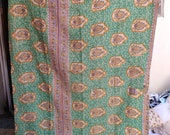 Indian Handmade vintage kantha Quilt queen Size Kantha Bedspread bed Cover