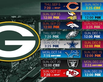 Green Bay Packers Schedule 2020 Printable.Green Bay Art Etsy