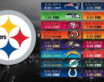photo regarding Printable Steelers Schedule called Pittsburgh steelers Etsy