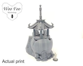 Samurai Panku Monastery 3D printed terrain test of honour Asian Adventures