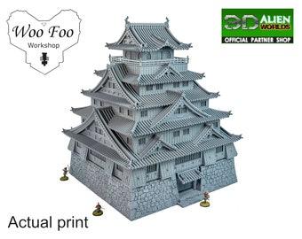 Samurai Castle With Underground Entrance 28mm 3D printed terrain test of honour