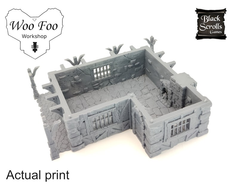 City Of Tarok Medieval Mansion with tower 3D printed scatter terrain 28mm32mm