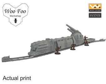 Sci Fi gothic train set 3D printed gaming terrain - Warlayer