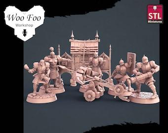 City Guards Set 32mm 3D resin printed fantasy gaming terrain STL Miniatures