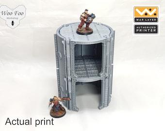 Warlayer Pipe Tower building 3D printed gaming terrain 28mm