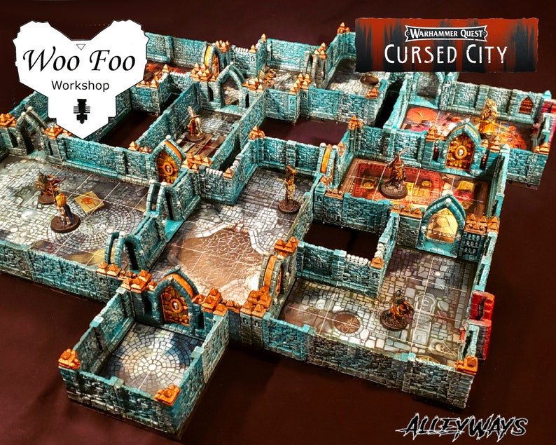 Warhammer Quest Cursed City Compatible 3D Printed Terrain set image 1