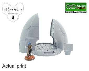 Tau Taui Teleporter 3D printed Gaming Terrain - 3D Alien Worlds