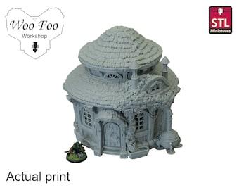City of Firwood Alchemist House 3D printed Gaming Terrain, 28mm - STL Miniatures