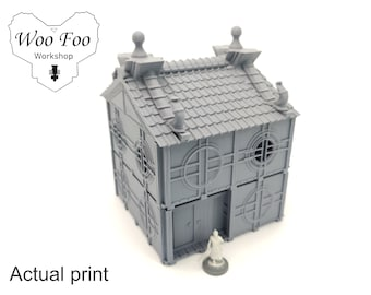 Samurai City House 2 28mm 3D printed terrain test of honour Asian Adventures