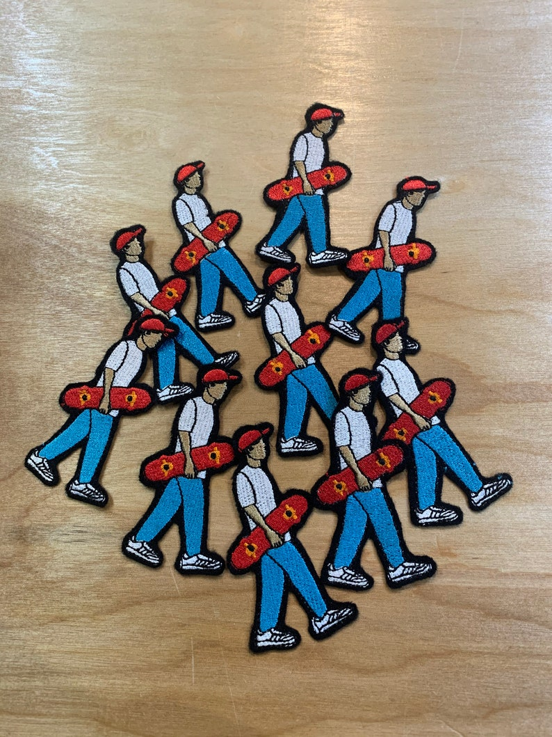 Skater Guy Embroidered Iron on  Sew on Patch