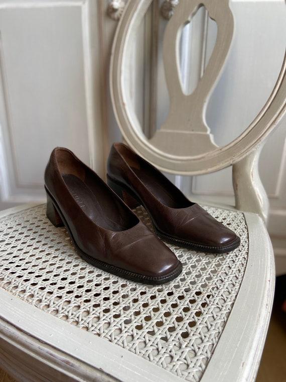 Vintage 90s Jil Sander Leather Shoes Pumps Square
