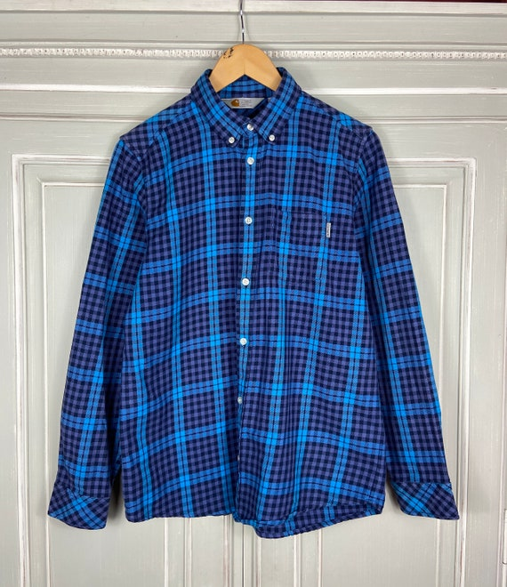 Vintage Carhartt Bell Shirt Check Button Down Shir