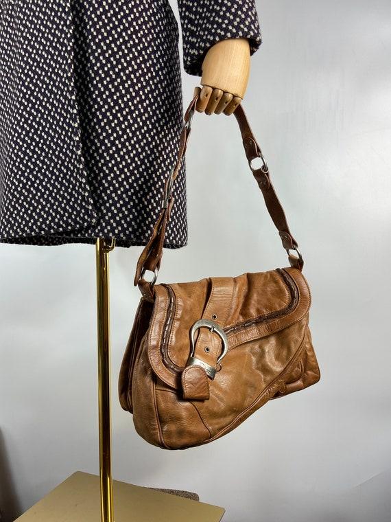 Vintage Dior Saddle Gaucho brown leather bag top h