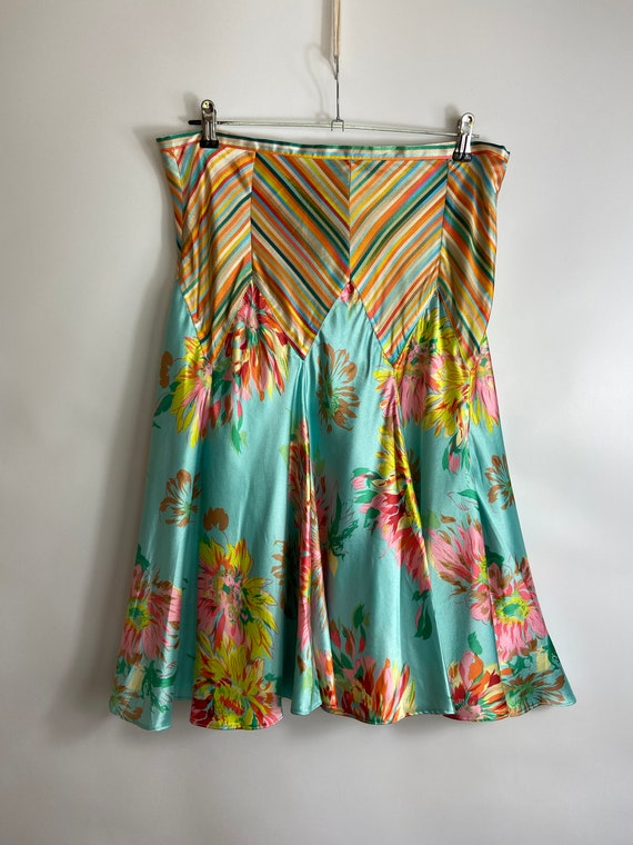Vintage Kenzo Jeans Multicolor Skirt with floral p