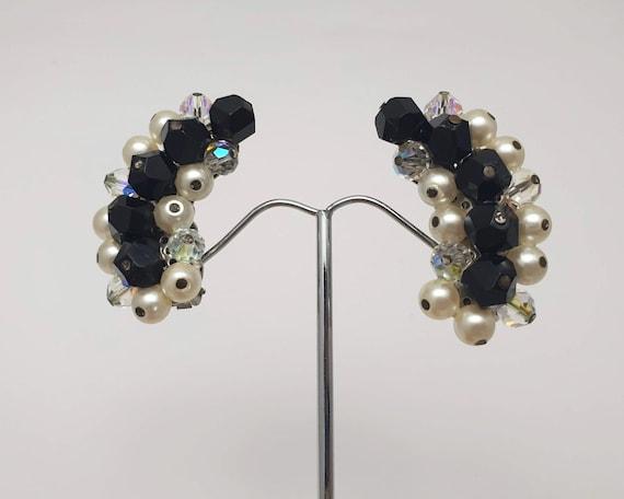 Vintage Laguna aurora borealis necklace clip on earring set