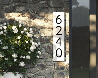Modern house number , house address plaque , address sign horizontal and vertical , modern address number , durable house numbers
