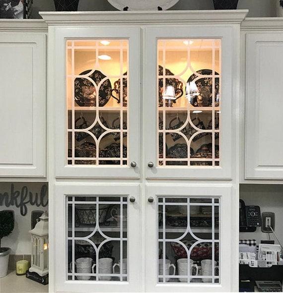 Mullions Glass Overlay Mullion Insert For Kitchen Cabinet Etsy