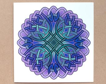 Celtic Inspired Knotwork Greetings Card