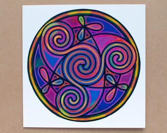 Celtic Inspired Triskele Greetings Card