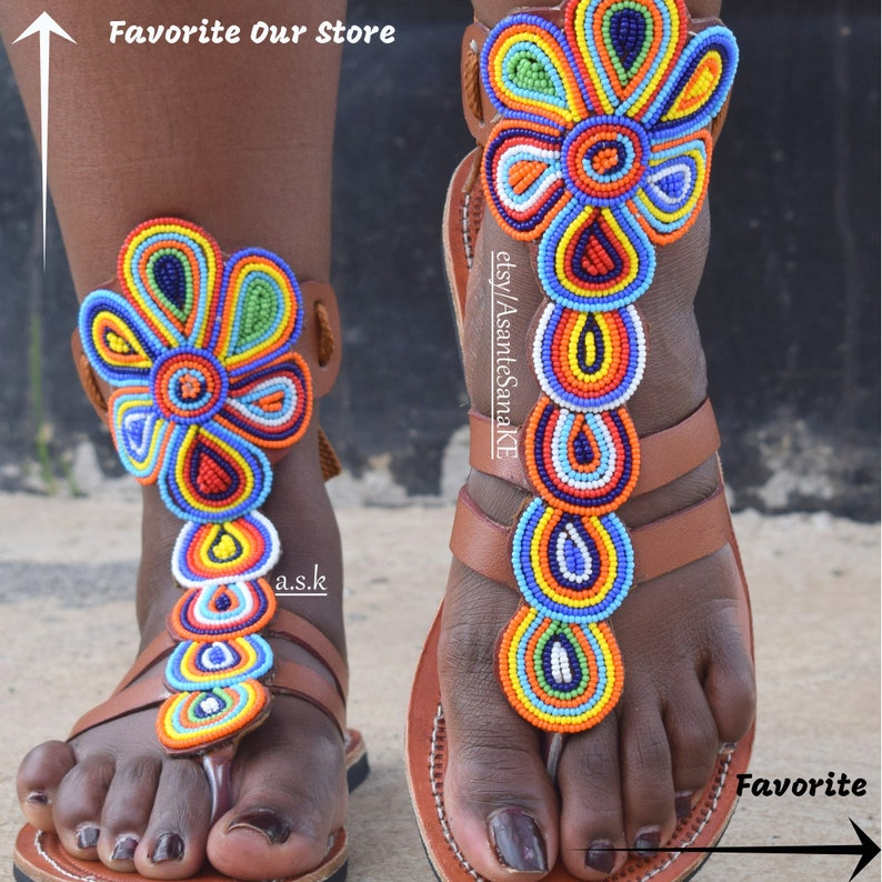 Africa Shoe African Clothing For Women Africa Sandal Leather Sandal ON SALE Bohemian Shoe Sandal Woman Masai Sandal Shoe Woman Afric