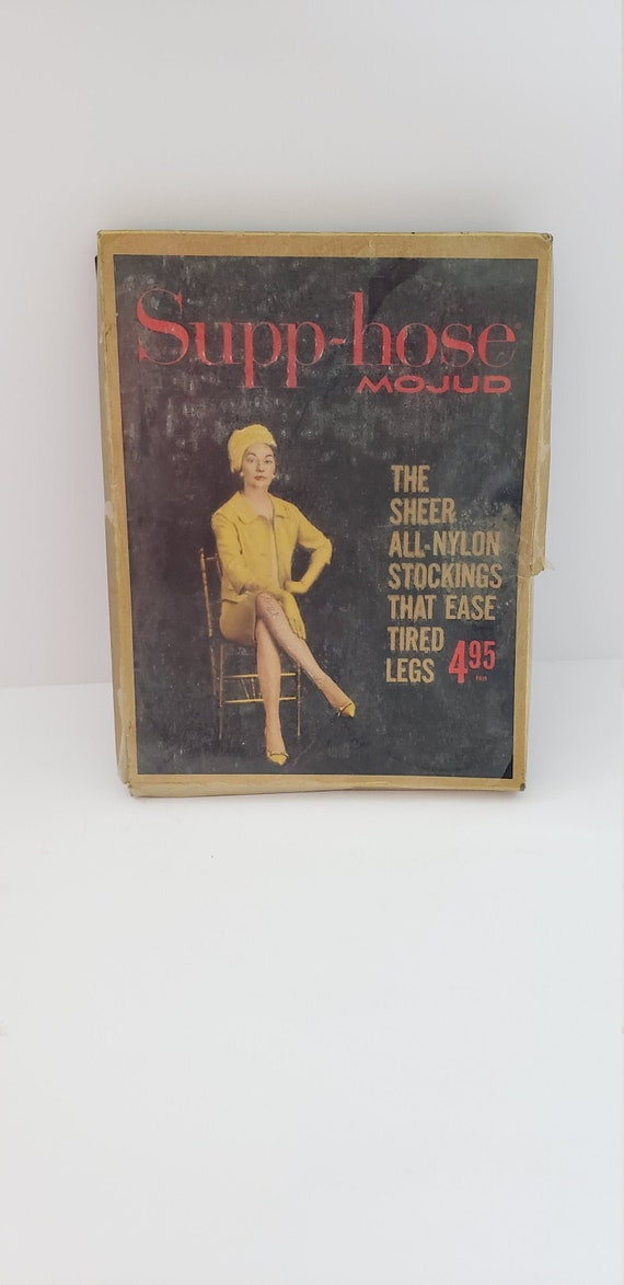 Vintage stockings box  - nude knee high stockings